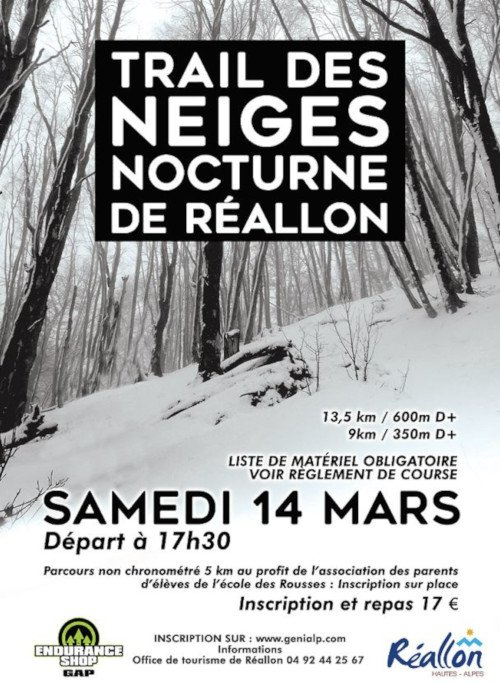 Trail des Neiges Nocturne - Réallon